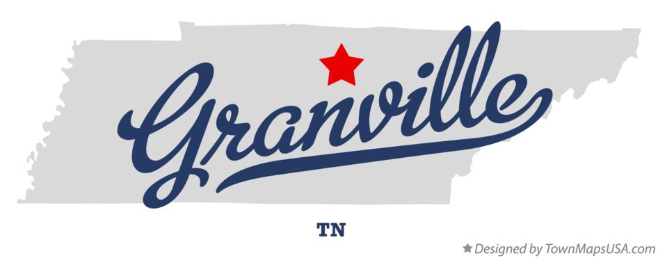 Map of Granville Tennessee TN