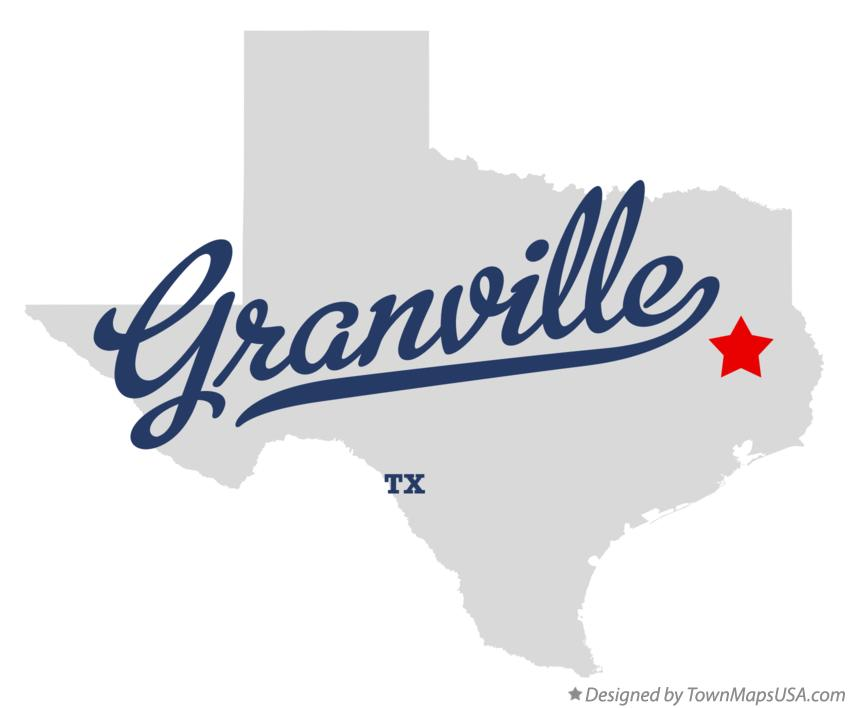 Map of Granville Texas TX