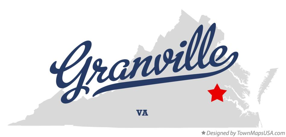Map of Granville Virginia VA