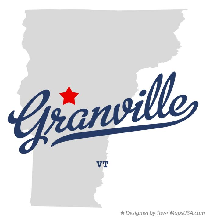 Map of Granville Vermont VT