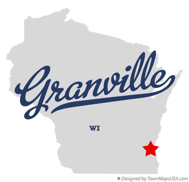 Map of Granville Wisconsin WI