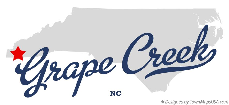 Map of Grape Creek North Carolina NC