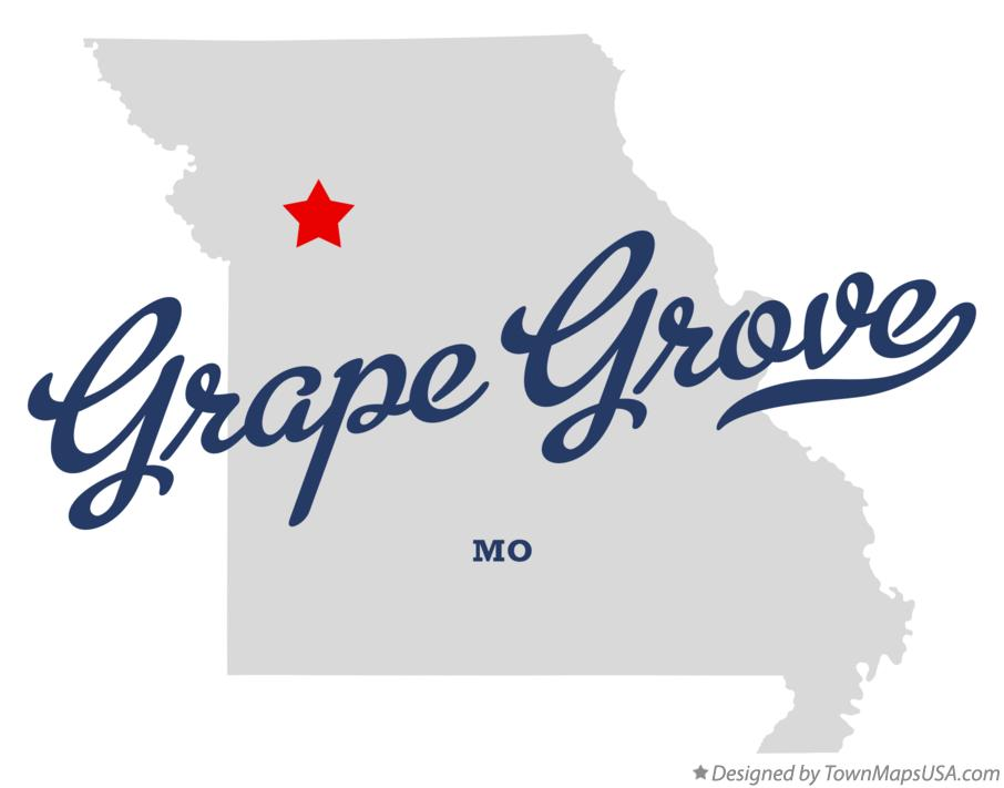 Map of Grape Grove Missouri MO