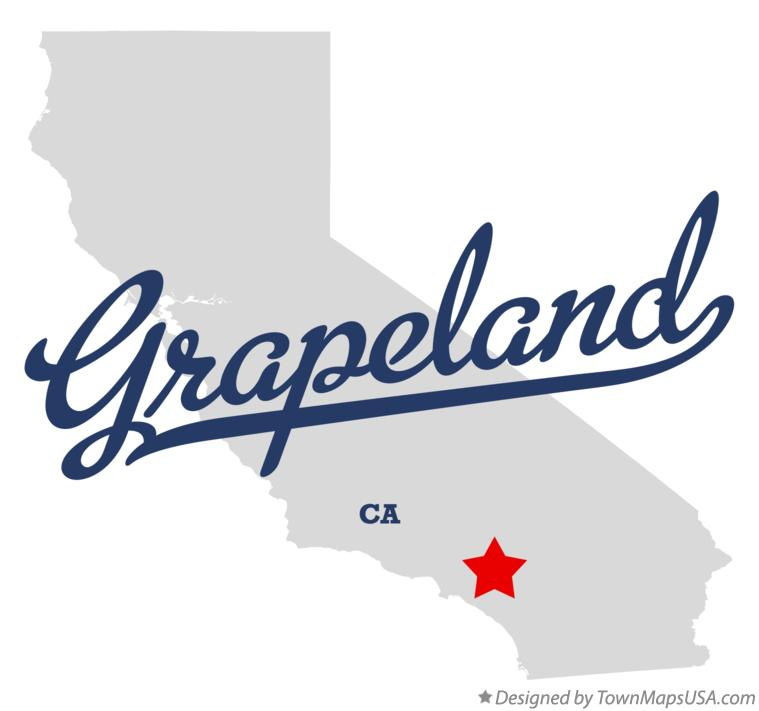 Map of Grapeland California CA