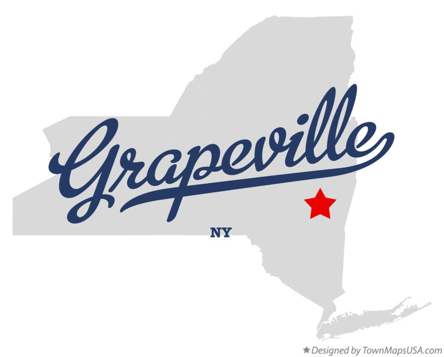 Map of Grapeville New York NY