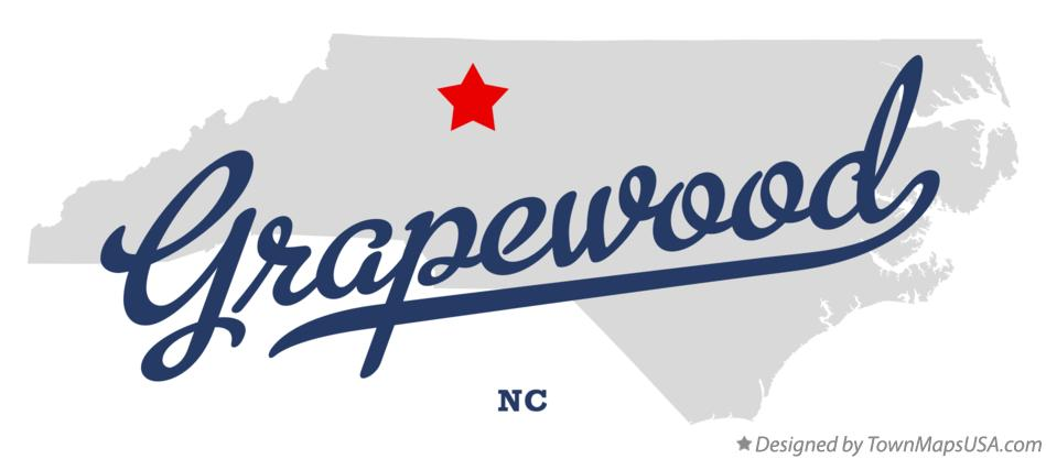 Map of Grapewood North Carolina NC