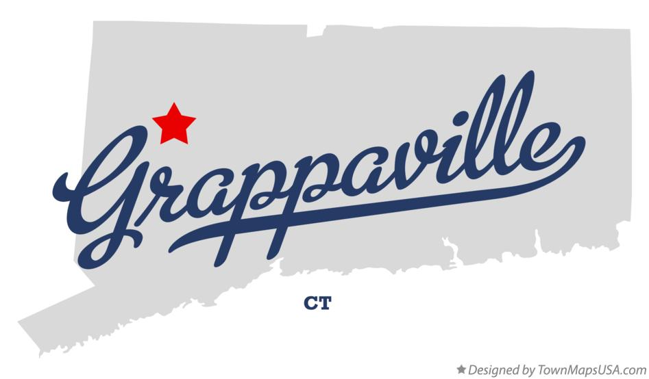 Map of Grappaville Connecticut CT