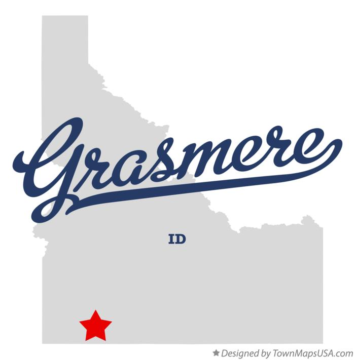 Map of Grasmere Idaho ID