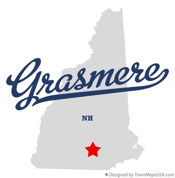 Map of Grasmere New Hampshire NH