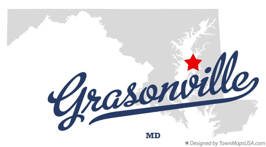 Map of Grasonville Maryland MD