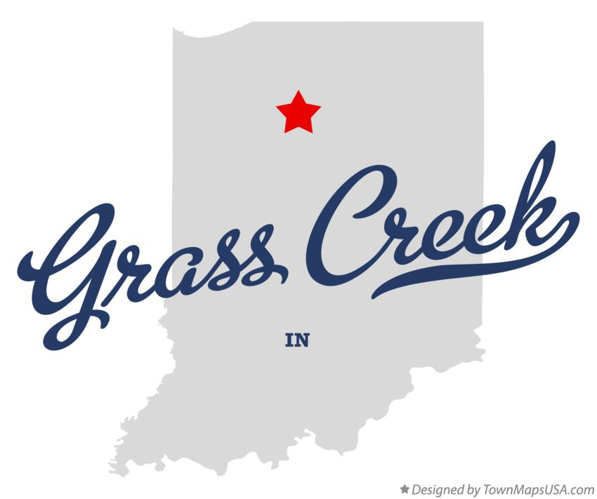 Map of Grass Creek Indiana IN