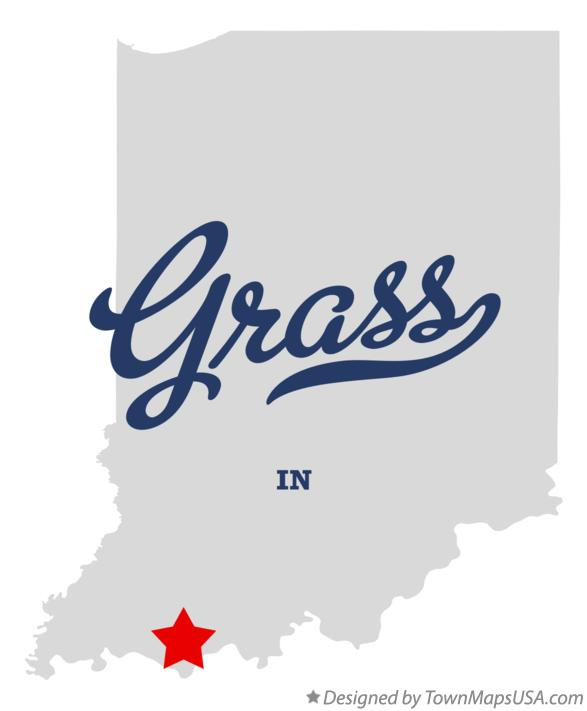 Map of Grass Indiana IN