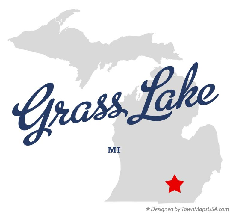 Map of Grass Lake Michigan MI