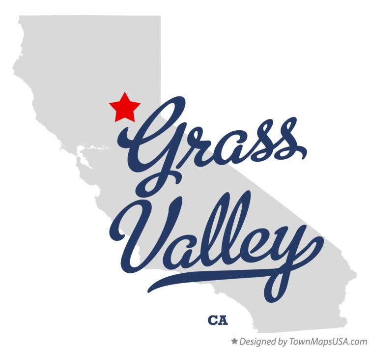 Map of Grass Valley California CA