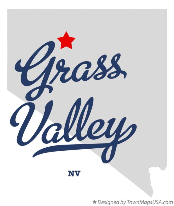 Map of Grass Valley Nevada NV