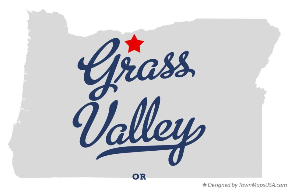 Map of Grass Valley Oregon OR