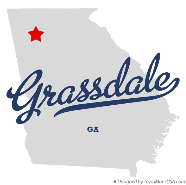 Map of Grassdale Georgia GA