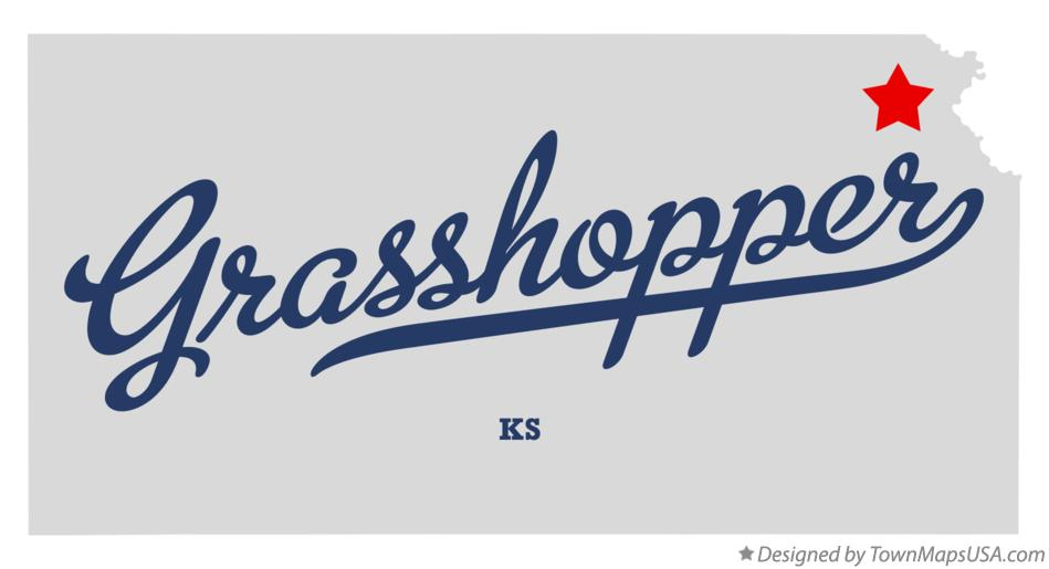 Map of Grasshopper Kansas KS