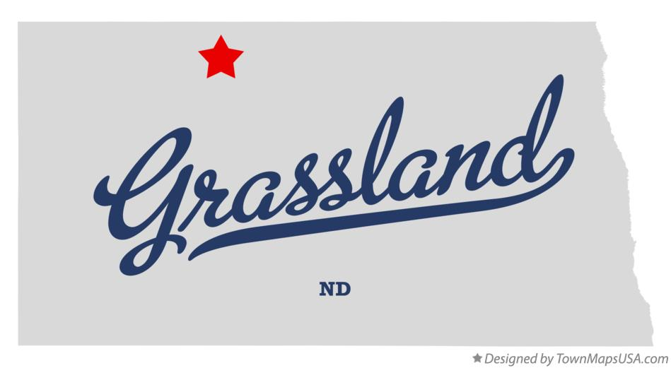 Map of Grassland North Dakota ND