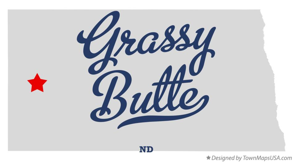 Map of Grassy Butte North Dakota ND