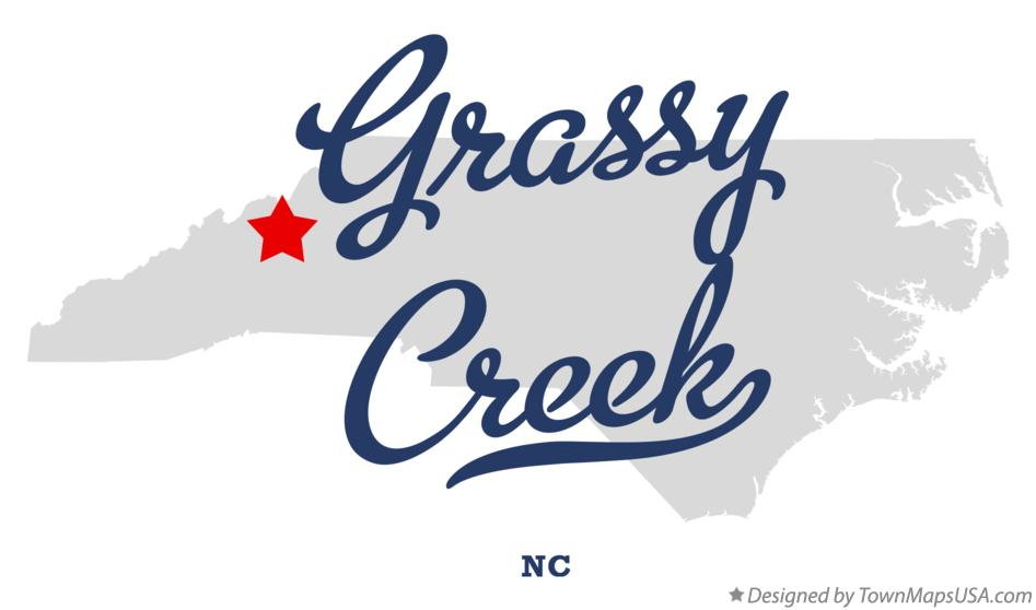 Map of Grassy Creek North Carolina NC