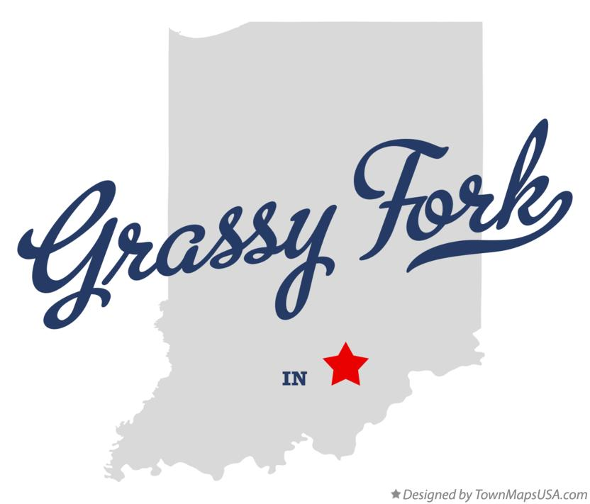 Map of Grassy Fork Indiana IN