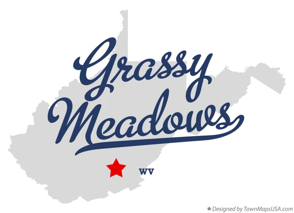 Map of Grassy Meadows West Virginia WV