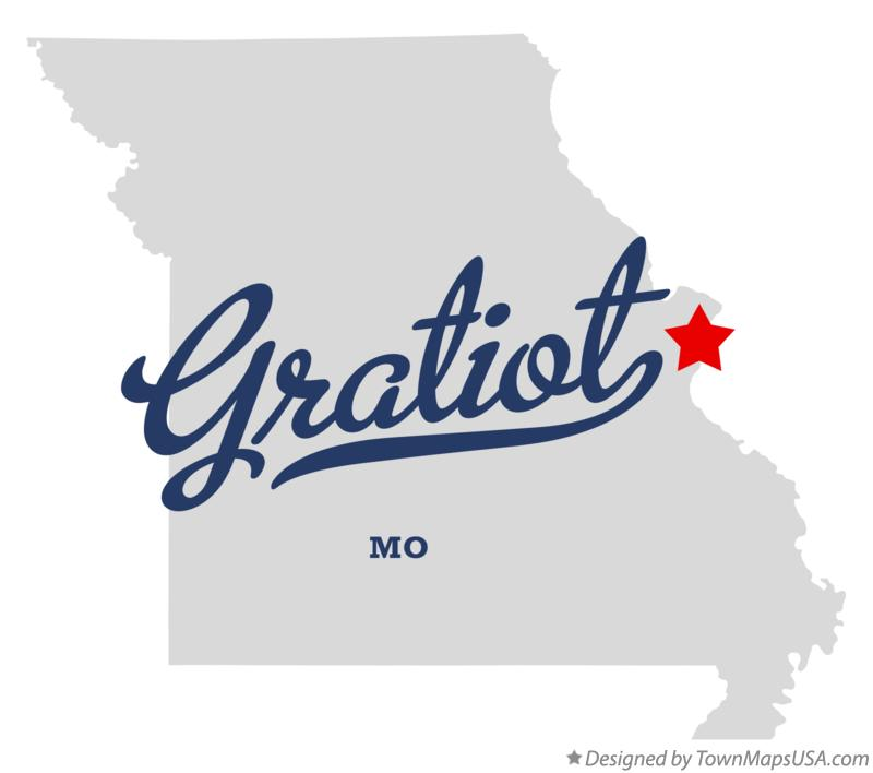 Map of Gratiot Missouri MO