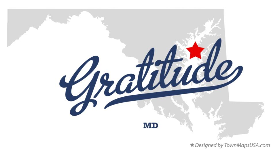 Map of Gratitude Maryland MD