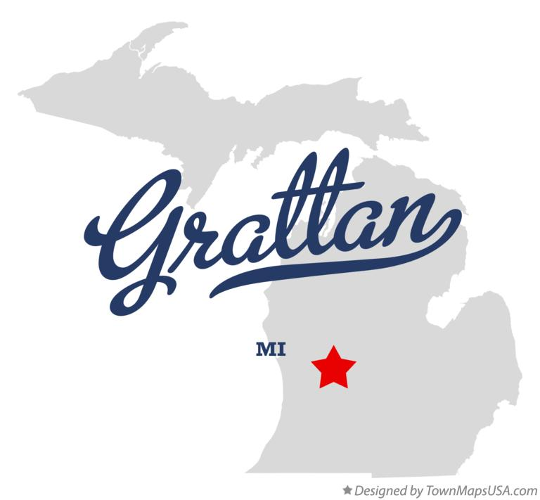 Map of Grattan Michigan MI
