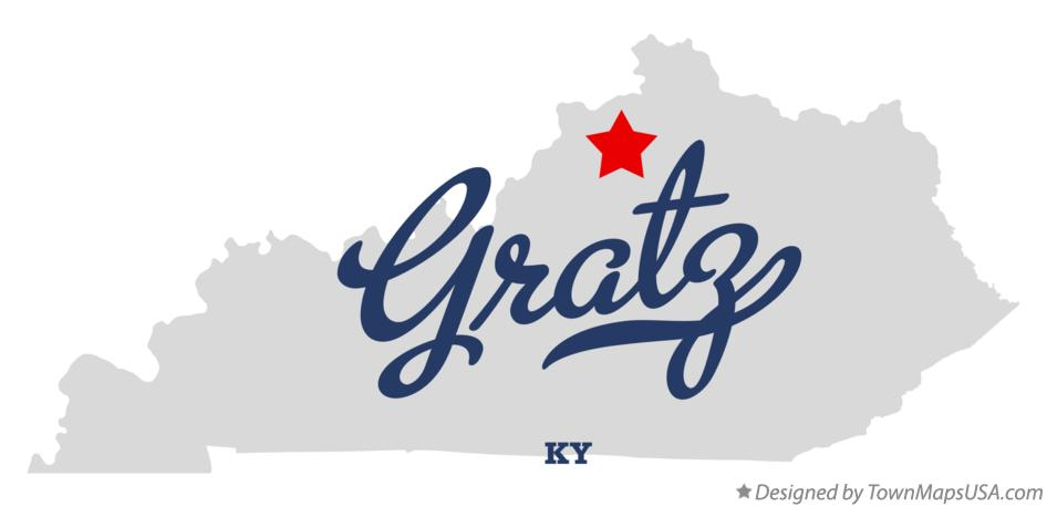 Map of Gratz Kentucky KY