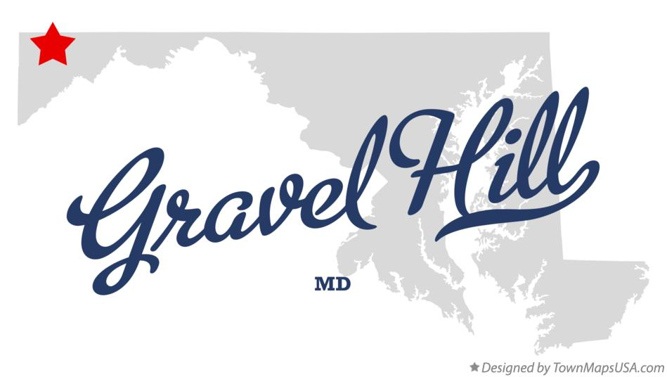 Map of Gravel Hill Maryland MD