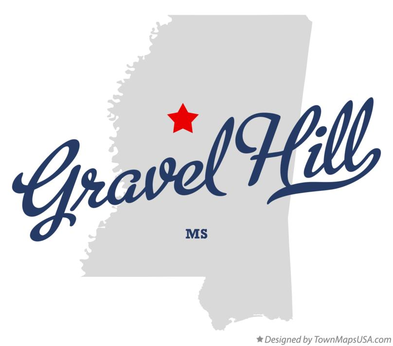 Map of Gravel Hill Mississippi MS