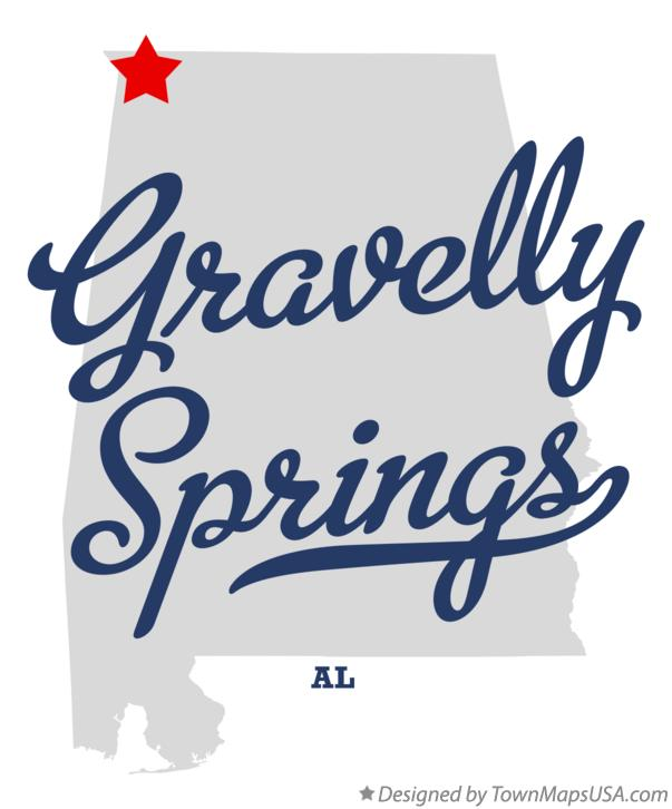 Map of Gravelly Springs Alabama AL