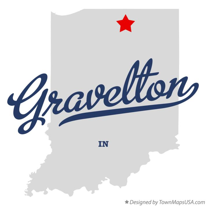 Map of Gravelton Indiana IN