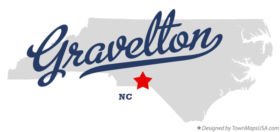 Map of Gravelton North Carolina NC