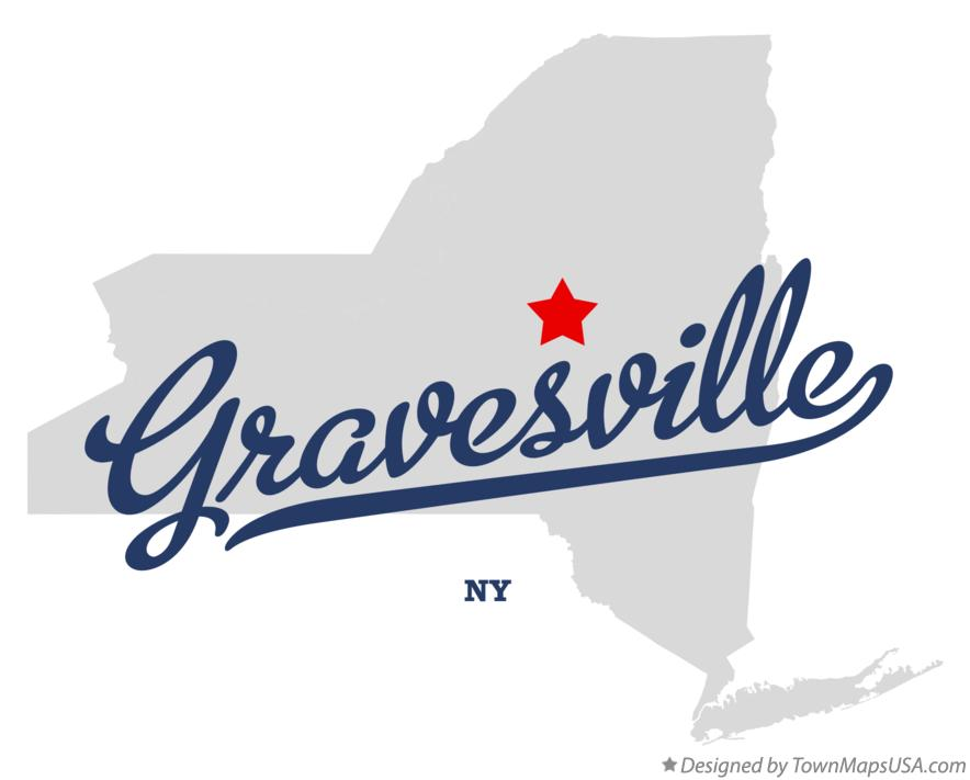 Map of Gravesville New York NY