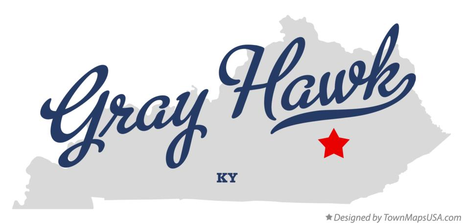 Map of Gray Hawk Kentucky KY