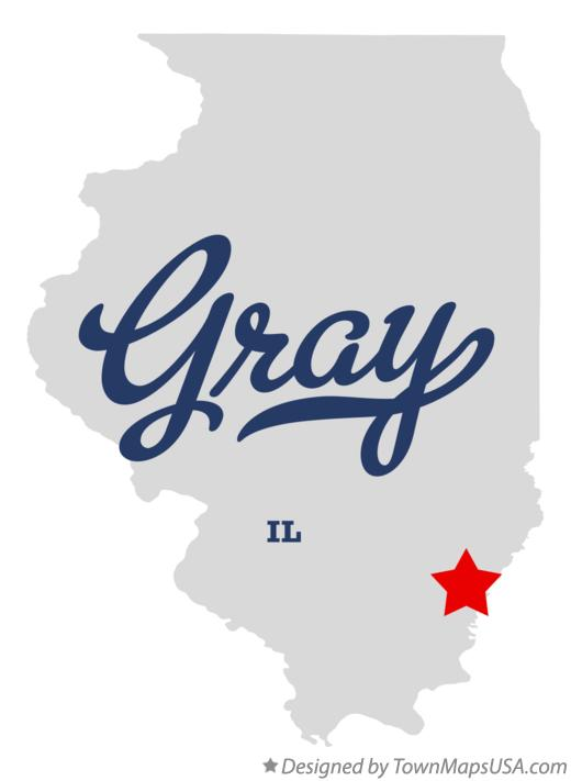 Map of Gray Illinois IL