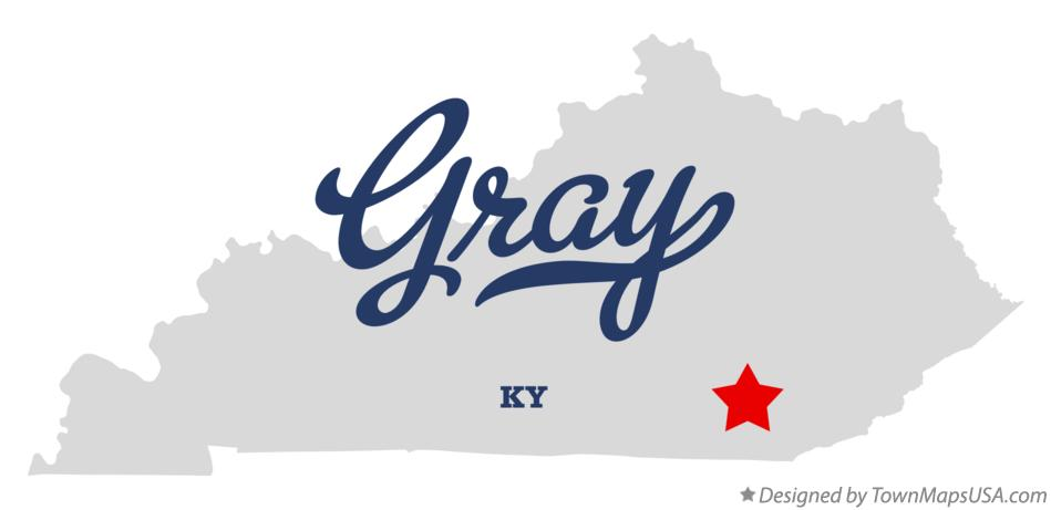 Map of Gray Kentucky KY