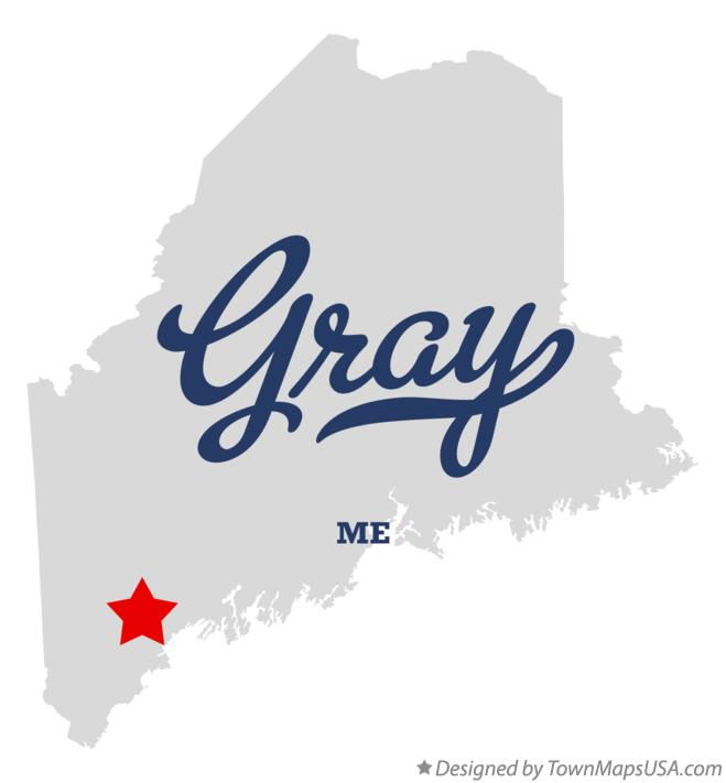 Map of Gray Maine ME