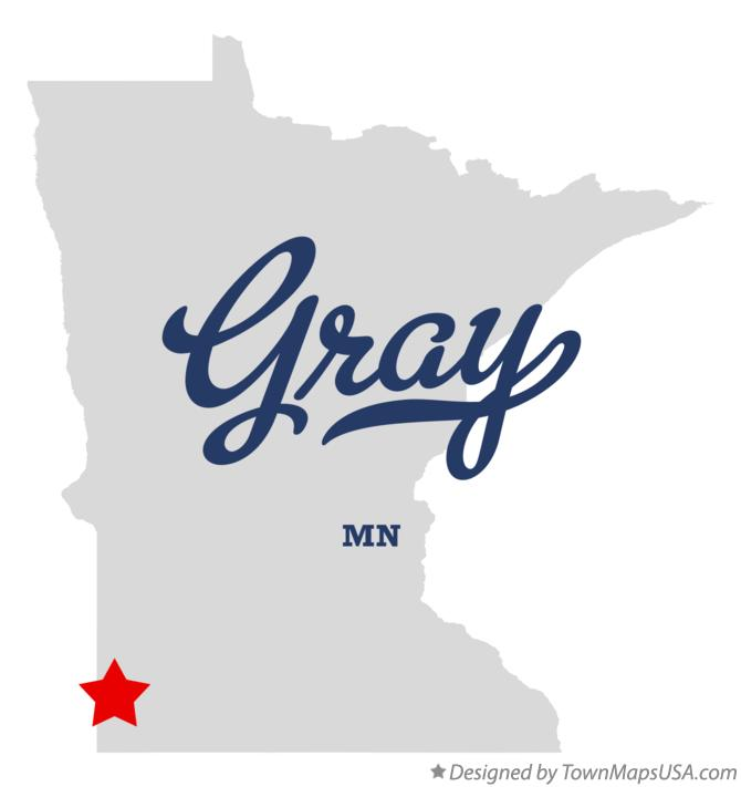 Map of Gray Minnesota MN