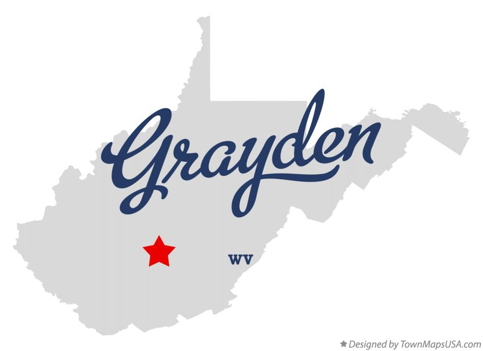 Map of Grayden West Virginia WV
