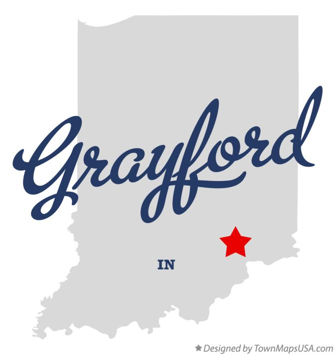 Map of Grayford Indiana IN