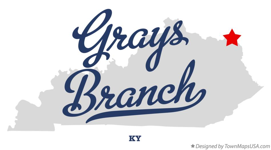 Map of Grays Branch Kentucky KY