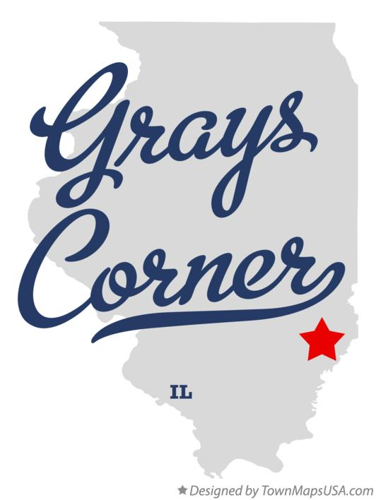 Map of Grays Corner Illinois IL