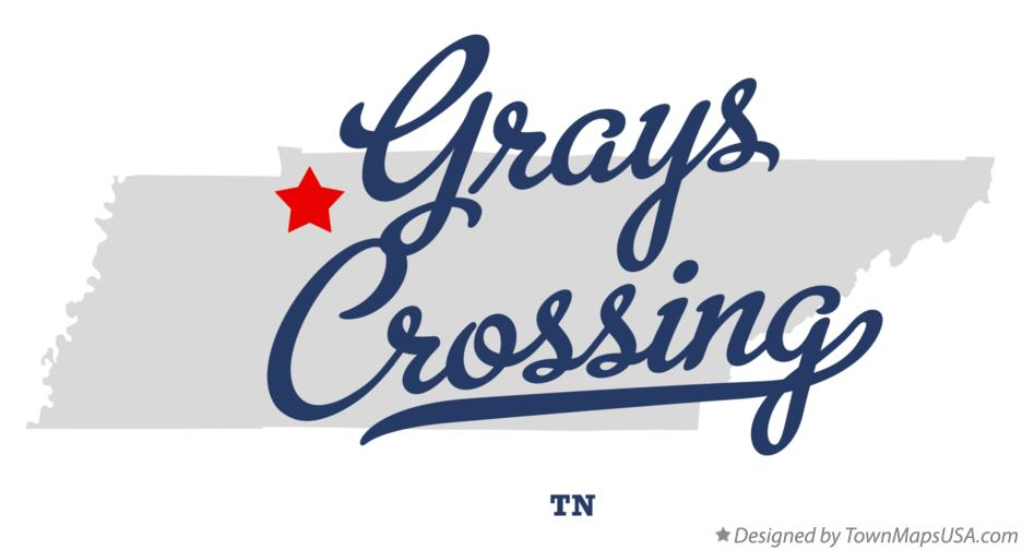 Map of Grays Crossing Tennessee TN