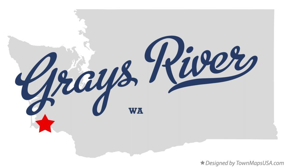Map of Grays River Washington WA