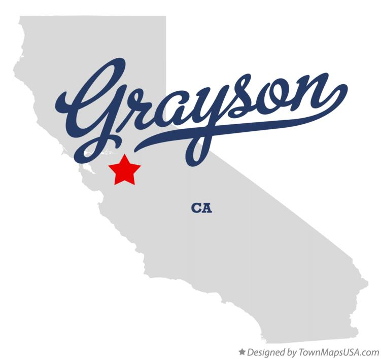 Map of Grayson California CA