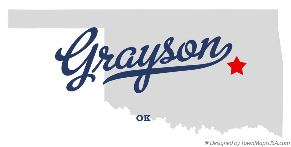 Map of Grayson Oklahoma OK